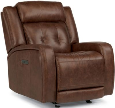 Flexsteel Jude Leather Power Glider Recliner