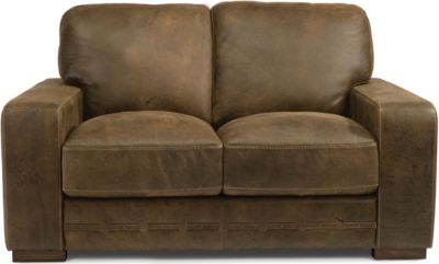 Flexsteel Buxton 100% Leather Loveseat