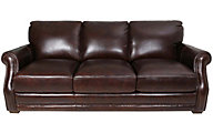 Flexsteel Chandler 100% Leather Brown Sofa