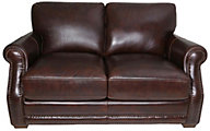 Flexsteel Chandler 100% Leather Brown Loveseat