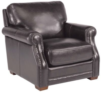 Flexsteel Chandler 100% Leather Gray Chair