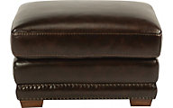 Flexsteel Chandler 100% Leather Ottoman