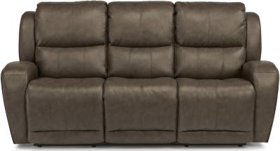 Flexsteel Chaz Leather Power Recline Sofa