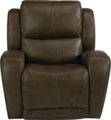 Flexsteel Chaz Leather Power Glider Recliner