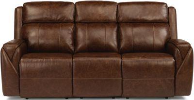 Flexsteel Zara Leather Power Recline Sofa w/Power Headrest & Flexsteel Zara Leather Power Recline Sofa w/Power Headrest ... islam-shia.org
