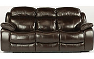 Flexsteel Como Leather Power Sofa w/Power Headrest