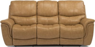 Flexsteel Coco Leather Power Reclining Sofa