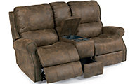 Flexsteel Miles Power Reclining Console Loveseat