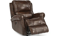 Flexsteel Miles Leather Power Glider Recliner