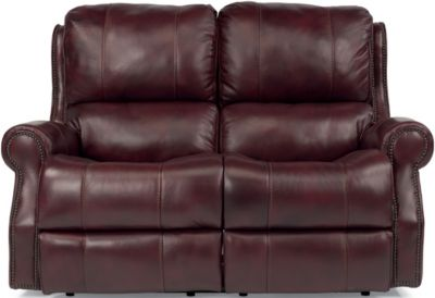 Flexsteel Miles Leather Power Reclining Loveseat