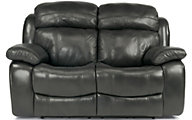 Flexsteel Como Leather Power Recline Loveseat w/Pwr Headrest