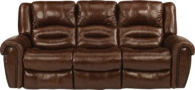 Flexsteel Crosstown Leather Reclining Sofa