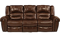 Flexsteel Crosstown Leather Reclining Sofa