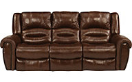 Flexsteel Crosstown Leather Power Recline Sofa