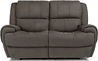 Flexsteel Nance Power Reclining Loveseat w/Power Headrest