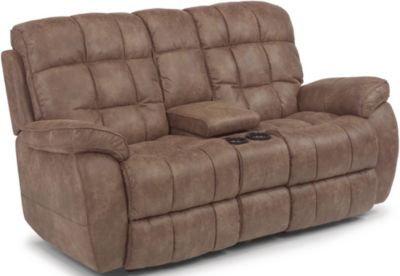 Flexsteel Nashua Power Reclining Loveseat w/Console