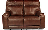 Flexsteel Sienna Ltr Power Reclining Loveseat w/Pwr Headrest