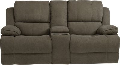 Flexsteel Simon Power Reclining Loveseat w/Console