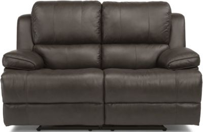 Flexsteel Simon Leather Power Reclining Loveseat