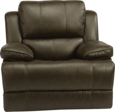 Flexsteel Simon Leather Power Glider Recliner