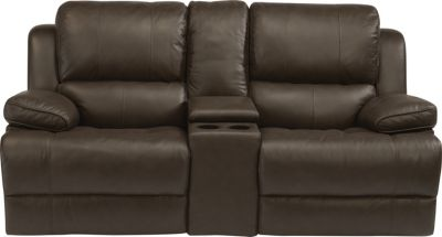 Flexsteel Simon Ltr Power Reclining Loveseat w/Console