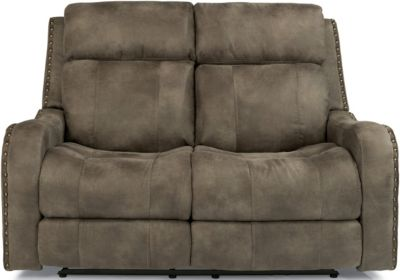 Flexsteel Springfield Pwr Reclining Loveseat w/Pwr Headrest