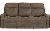 Flexsteel Springfield Power Reclining Sofa w/Pwr Headrest