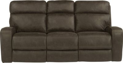Flexsteel Tomkins Power Reclining Sofa w/Power Headrest