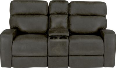 Flexsteel Tomkins Power Gliding Reclining Console Loveseat