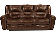 Flexsteel Crosstown Leather Sofa w/Power Recline & Headrests