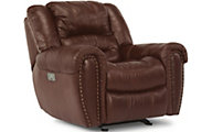 Flexsteel Crosstown Leather Power Recliner w/Power Headrest