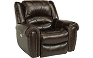 Flexsteel Crosstown Leather Recliner w/Power Headrest
