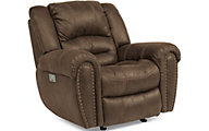 Flexsteel Downtown Power Recliner with Power Headrest