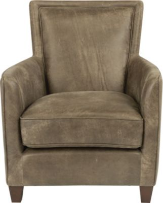 Flexsteel Kingston Gray 100% Leather Chair
