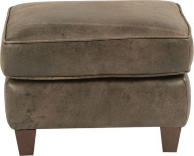 Flexsteel Kingston Antique Brown 100% Leather Ottoman