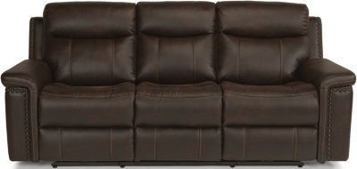 Flexsteel Trevor Power Recline Sofa w/Power Headrest