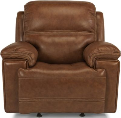Flexsteel Fenwick Leather Power Glider Recliner