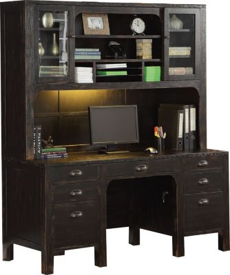 Flexsteel Homestead Credenza & Hutch