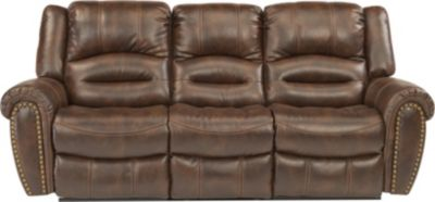 Flexsteel Downtown Power Reclining Sofa w/Power Headrests