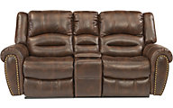 Flexsteel Downtown Power Reclinining Loveseat with Console
