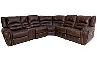 Flexsteel Downtown Collection 6-Piece Power Reclining Sectio