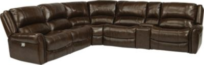 Flexsteel Brazen Leather 6-Piece Power Reclining Sectional