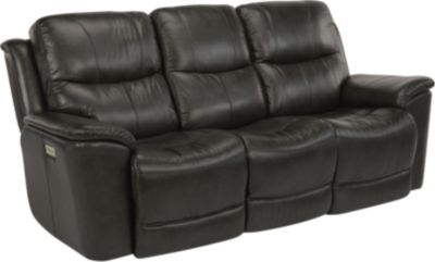 Flexsteel Cade Leather Power Reclining Sofa