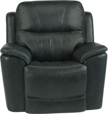 Flexsteel Cade Black Leather Power Recliner