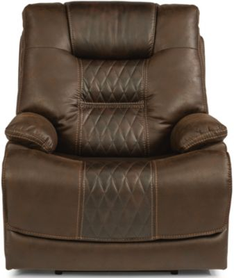 Flexsteel Dakota Power Recliner with Power Headrest & Lumbar