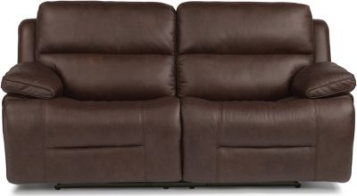 Flexsteel Apollo Leather Power Reclining Sofa