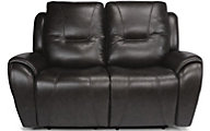 Flexsteel Trip Leather Power Loveseat