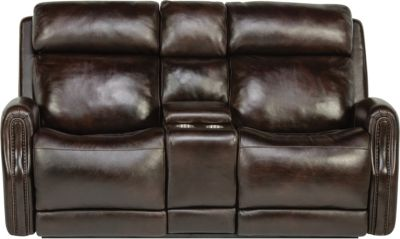 Flexsteel Stanley Power Headrest Console Loveseat