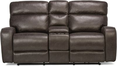 Flexsteel Tompkins Park Power Recline Console Loveseat