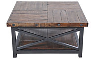 Flexsteel Carpenter Dark Square Coffee Table